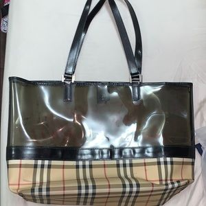 Burberry tote made in London authentic.